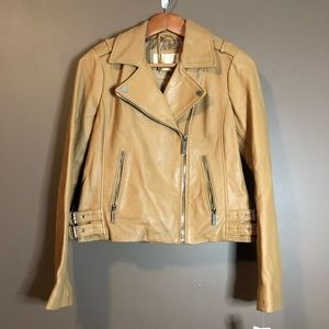 NWT! Micheal Kors genuine leather jacket